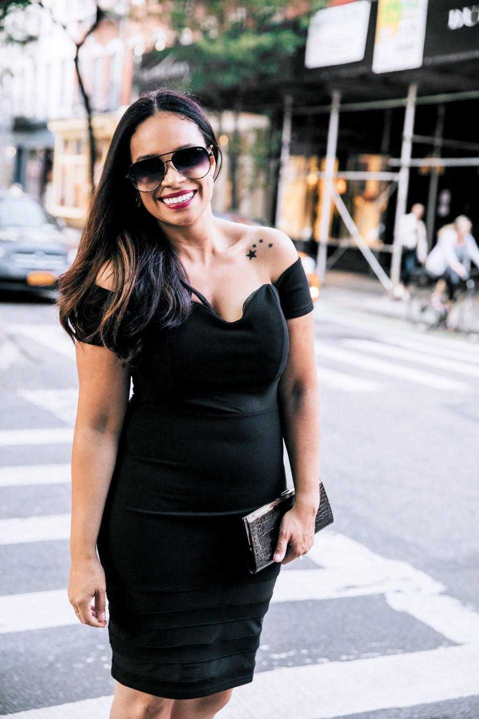Classy Black Off-The Shoulder Dress-Tiffany D. Brown