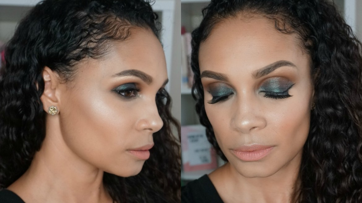 Emerald Green Smokey Eye Makeup That's Perfect For The Holidays-Tiffany D. Brown