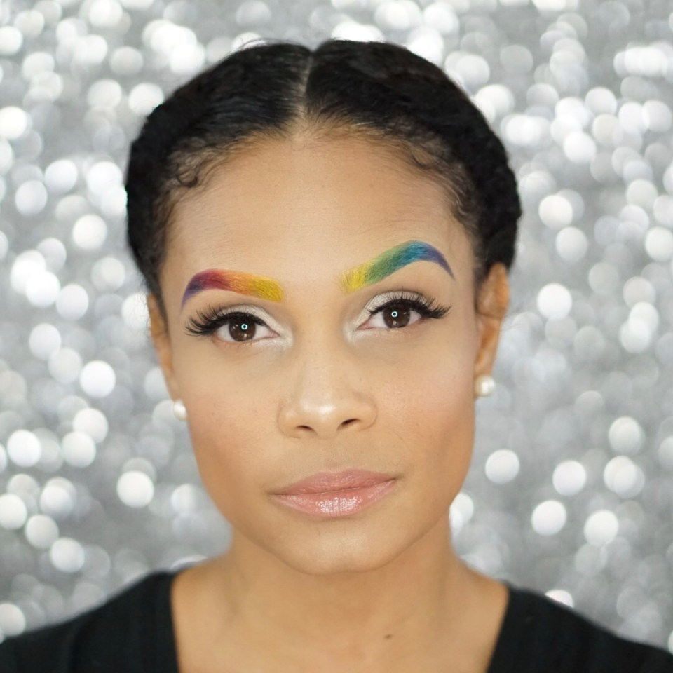 How To Create Rainbow Eyebrows With This Easy Tutorial-Tiffany Nicole Brown