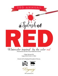 splash of red invite