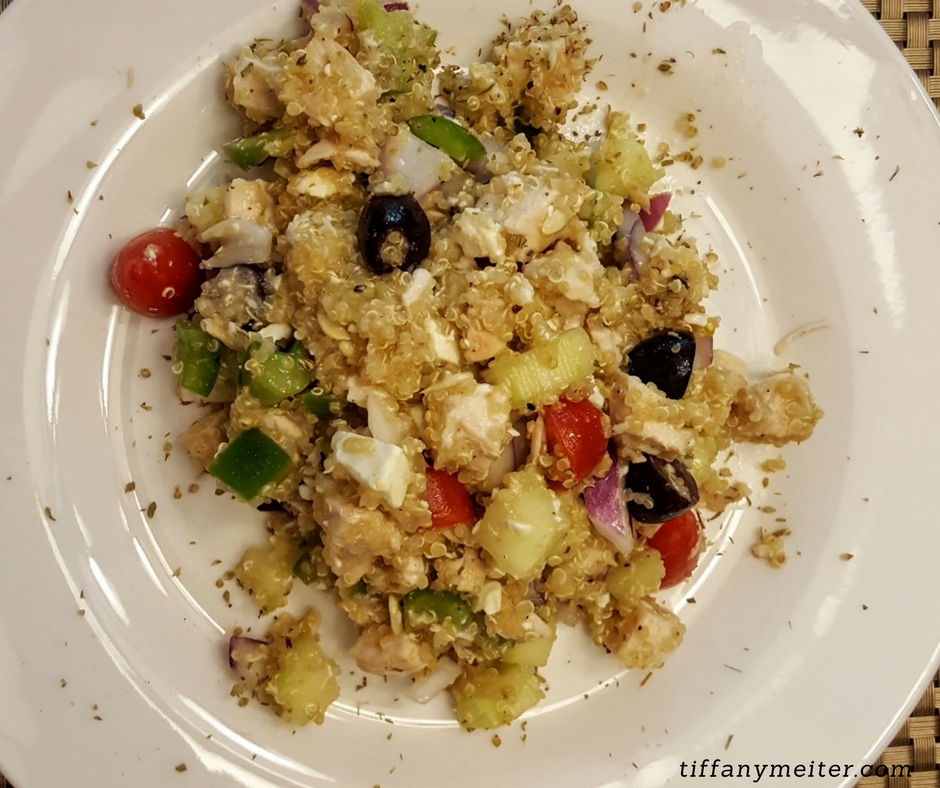 Mediterranean Chicken Quinoa Bowl Recipe: Mediterranean Chicken & Quinoa Salad