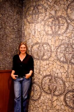 Tiffany in Church Doorwell