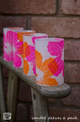 Hibiscus Candle sleeves