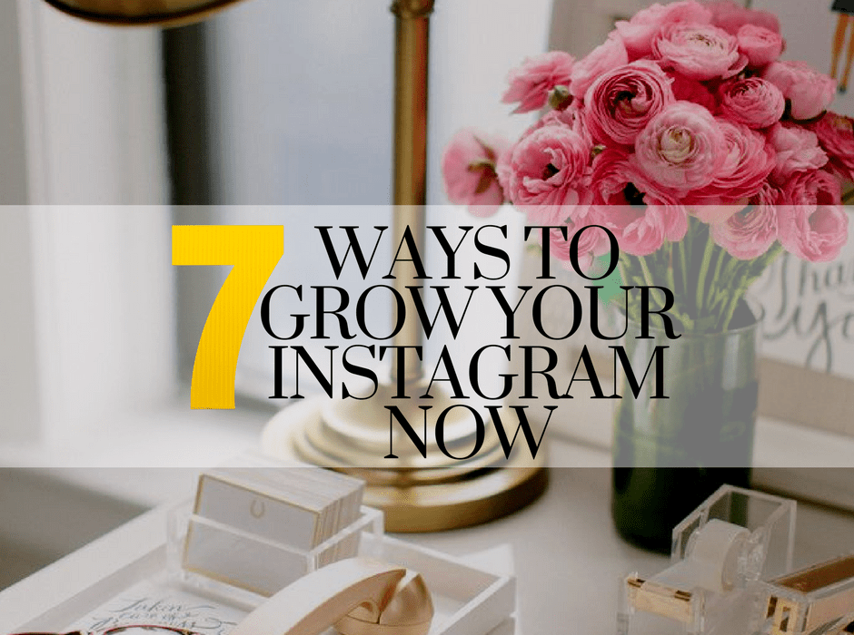 7 ways to grow your Instagram now