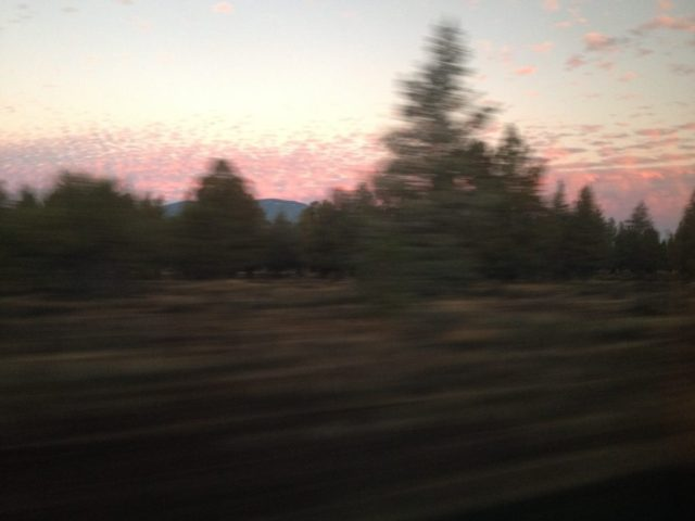 Oregon sunrise as seen from the train.