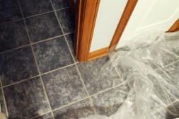 Bathroom Floor Before
