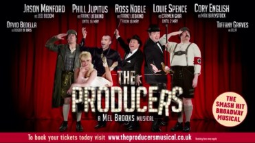 The Producers poster with names and blurb