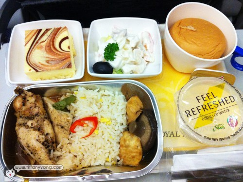 Normal Meal Royal Brunei Airlines