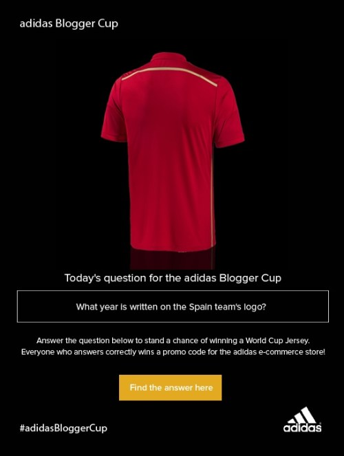 adidas Blogger Cup question 5