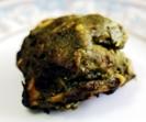 ホウレンソウ・ガーリック・スパイスで味付けしたタンドリーで焼き上げたチキン料理