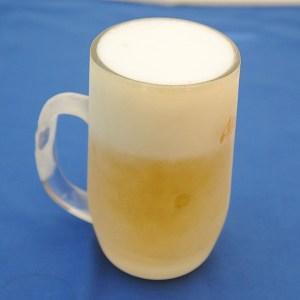 キーンキーンに冷えた生ビールののどごしは最高!