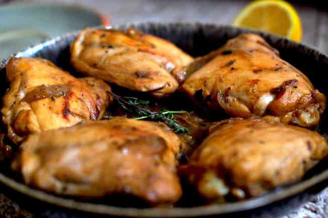 Creamy Mushroom and Tarragon Chicken Thighs