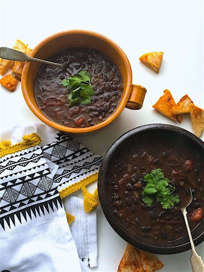 vegan black bean chilli