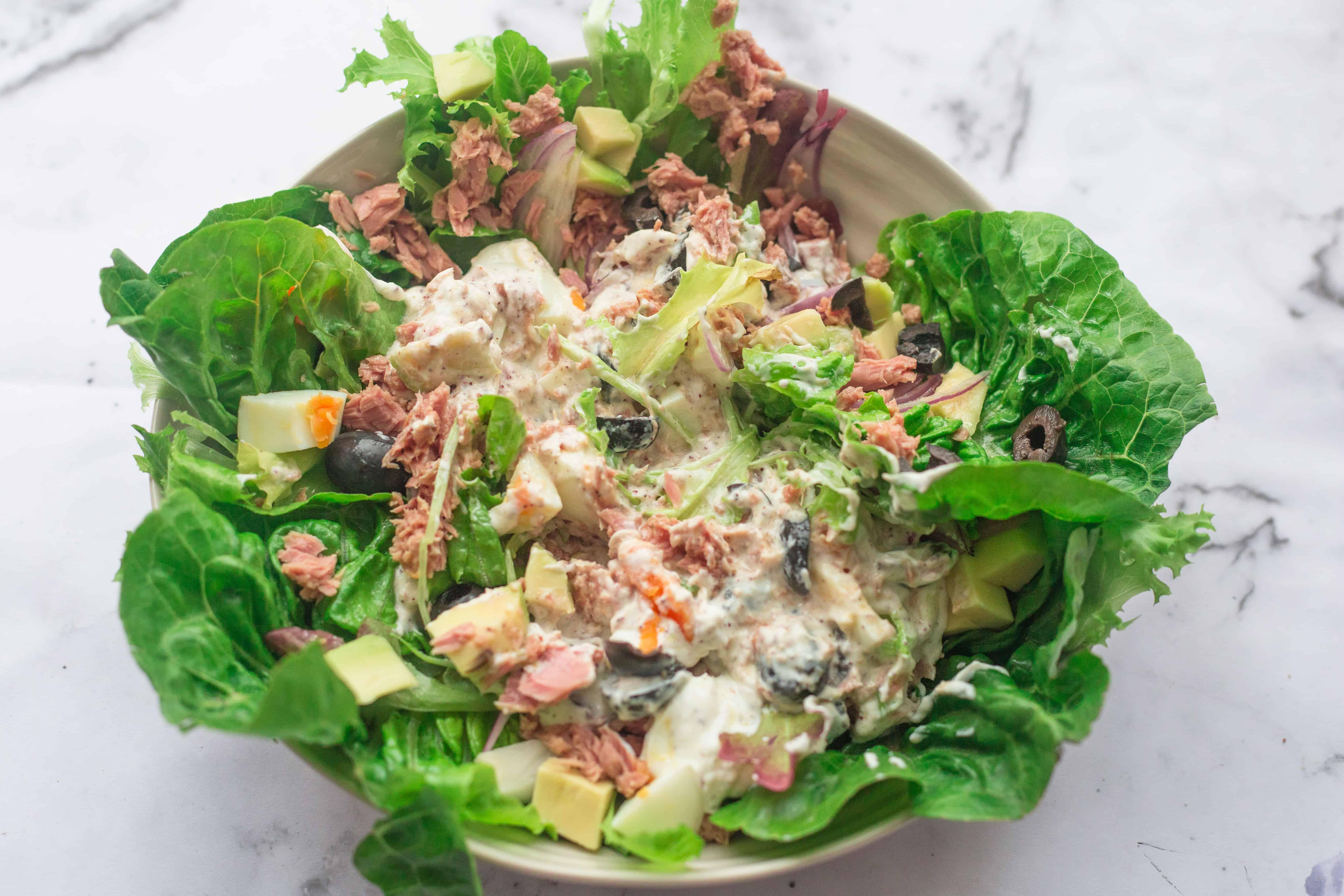 Banging Healthy Tuna Caesar Salad