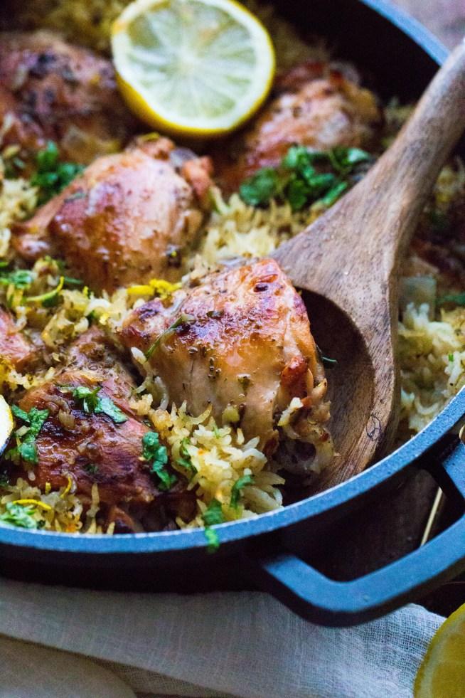 One Pot Greek Lemon Chicken and Rice