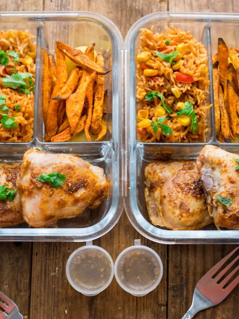 Peri Peri Chicken and Spicy Rice Meal Prep