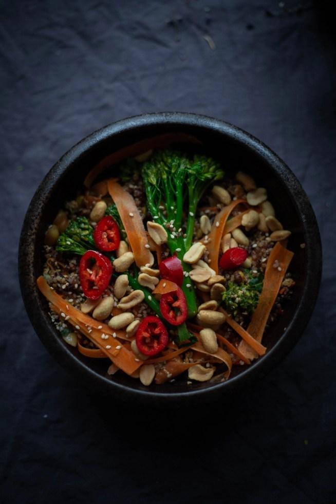 Colourful Stir Fried Quinoa