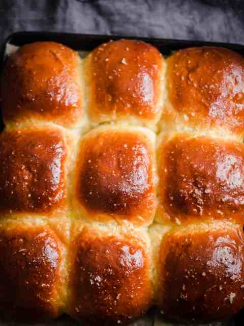 Baked Milk Buns in tray