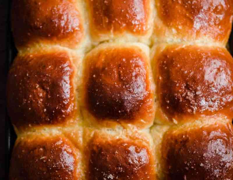 9 Milk Buns baked in a tray