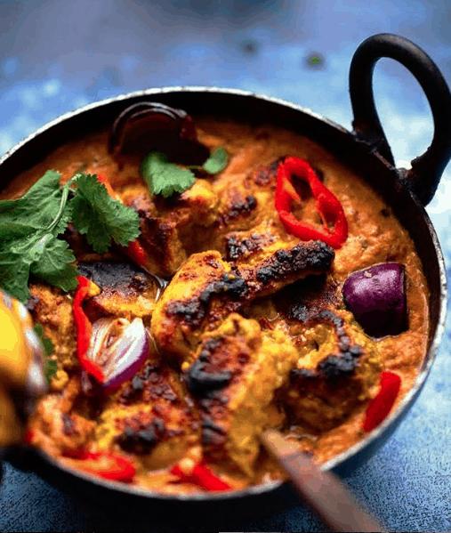Butter Chicken in a wok