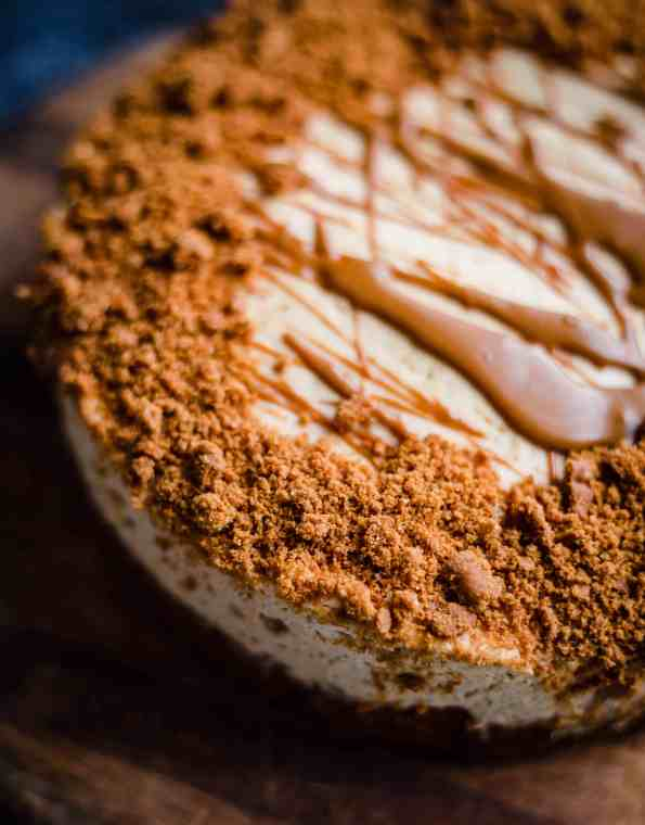 Lotus Biscoff Cheesecake side view