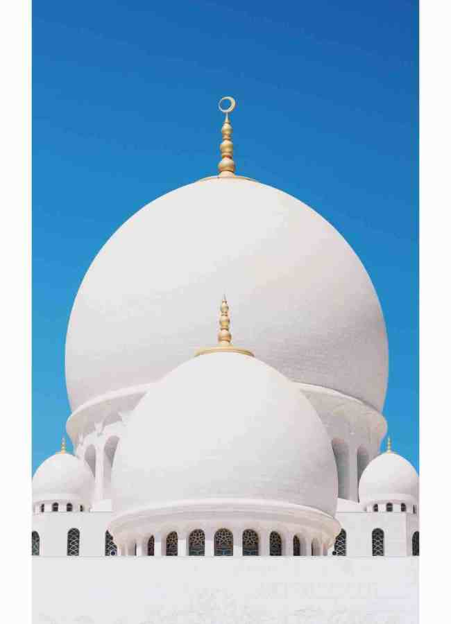 Mosque with 2 white domes