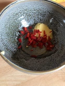 Chilli and Butter in a bowl