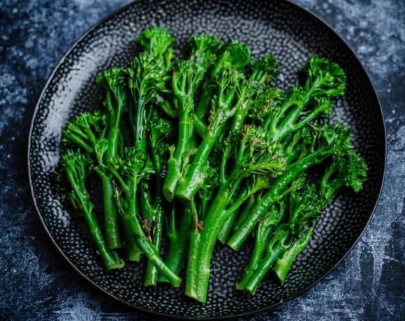 Tenderestem Broccoli in a plate