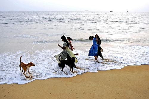 People On The Beach In India