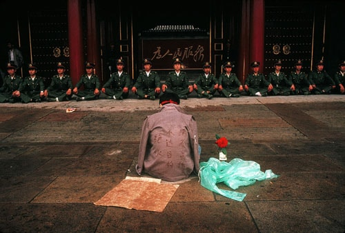 Tiananmen Square Protestor by Ken Jarecke