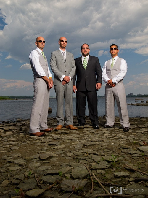 Groomsment photographed using the Elinchrom Quadra System