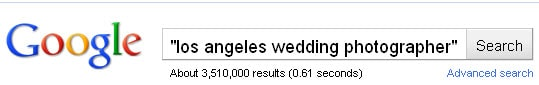 Los Angeles Wedding Photographer Google Results