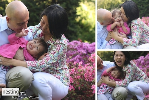 Collage Of A Family Portrait Session