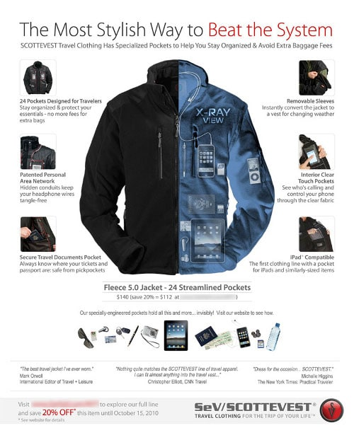 Delta Airlines Rejected This Advertisement From ScotteVest