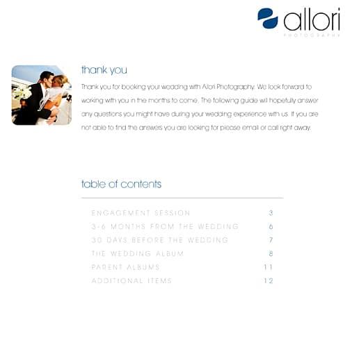 Allori Photography FAQ