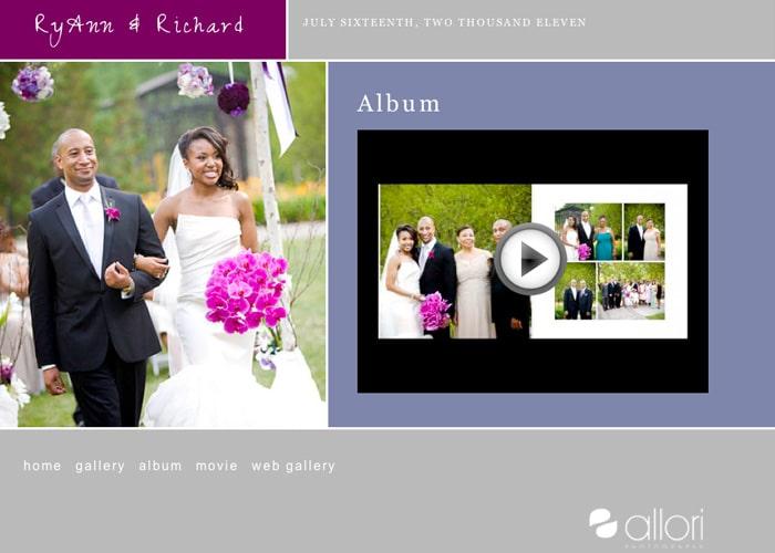 Allori Photography Album Site