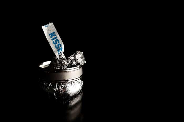 Doug Levy Wedding Ring Shots | Hershey's Kisses
