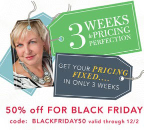 3 Weeks To Pricing Perfection by Joy Vertz: Black Friday & Cyber Monday Deal