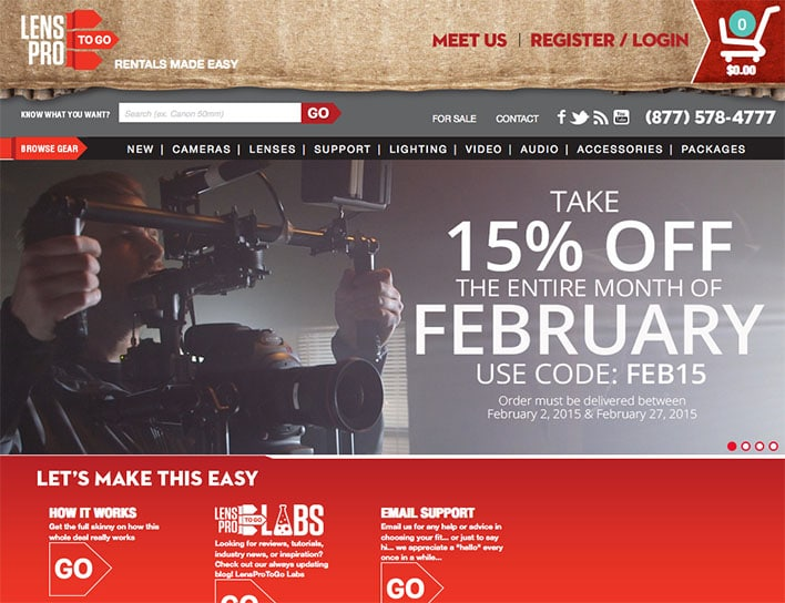 Lens Pro To Go February Sale