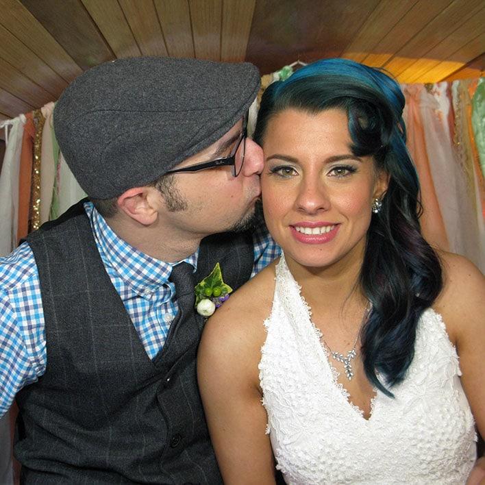 David & Becky Apuzzo At Their Wedding