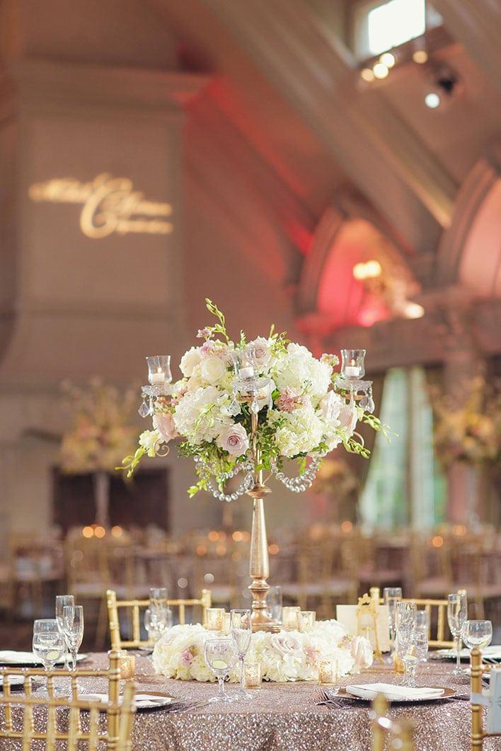 Table Shots at Wedding Reception © Vanessa Joy