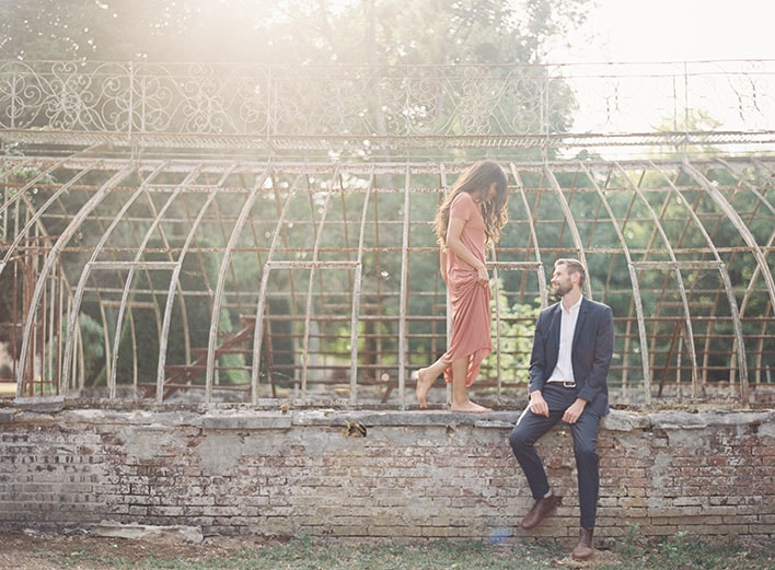 Jen Huang: Fine Art Wedding Photography, Bride and Groom On A Wall