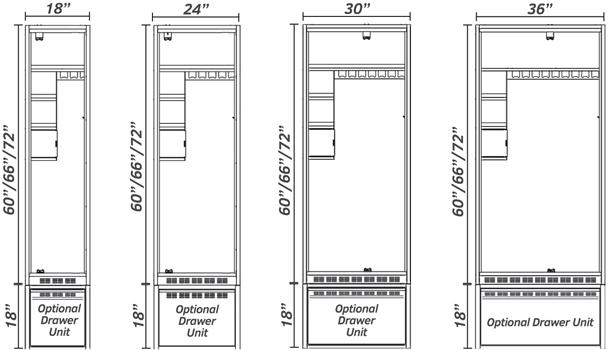 Airflow Locker Front View