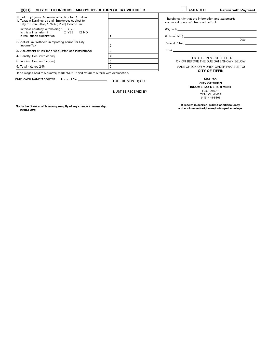 The Estimated Tax Worksheet