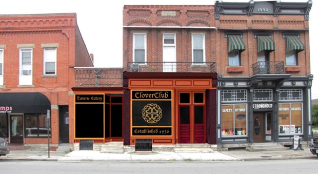 The Clover Club's proposed exterior enhancement is the first one to receive a Facade Enhancement Program grant.