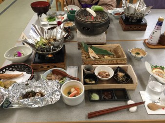 Full-course meal at the Onsen