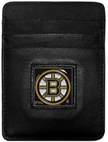 Leather Money Clip Cardholder Bruins