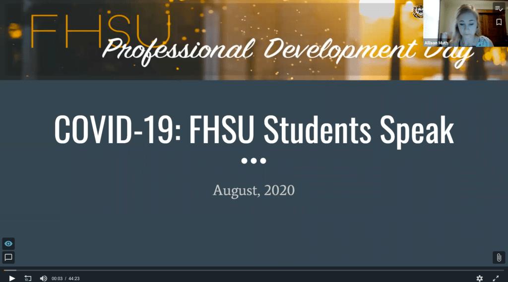 COVID-19 FHSU Student Survey Panel Pt 1