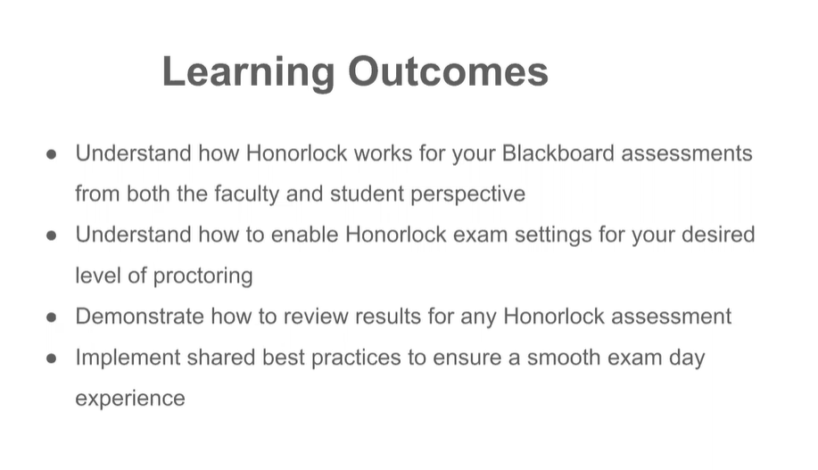 Honorlock with Blackboard Exams