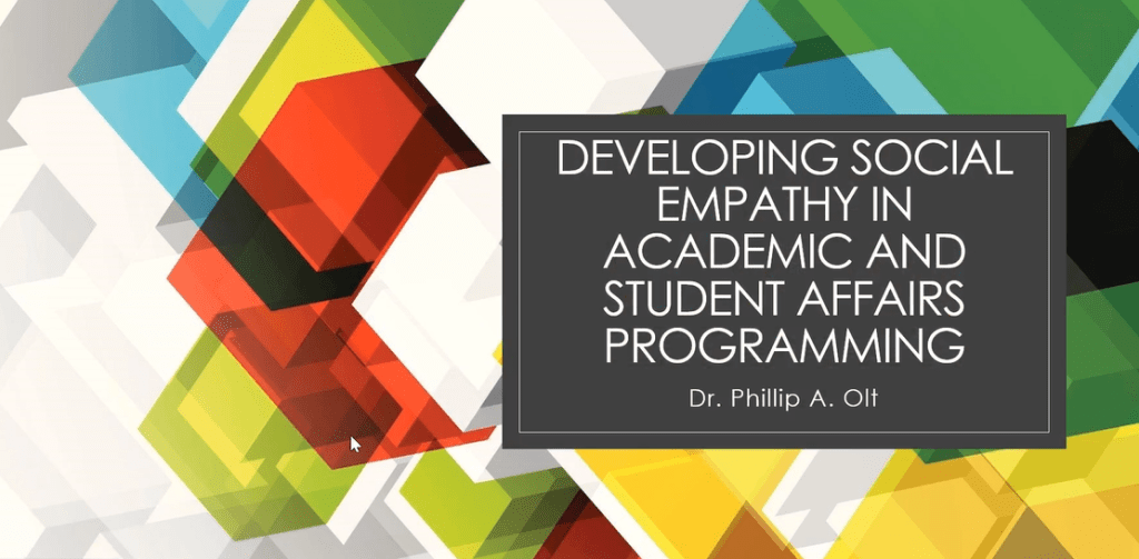 Developing Social Empathy in Academic and Student Affairs Programming
